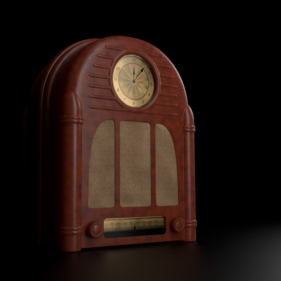 Bakelite Clock Radio Dark